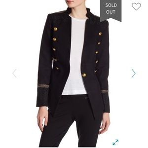 Romeo Juliet Couture Military Lace Detail Blazer